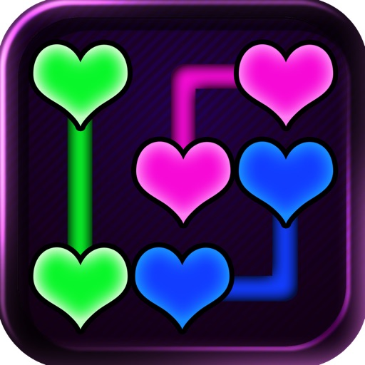Neon Heart Pipe Lines Icon
