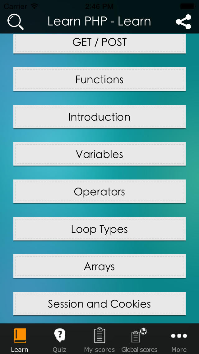 Learn PHP - Simple PHP Tutorial screenshot one