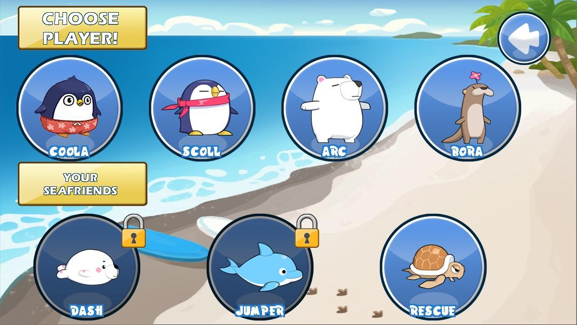 South Surfers 2 :Penguin Run 4 Finding Marine Subway 1 Lite Screenshot