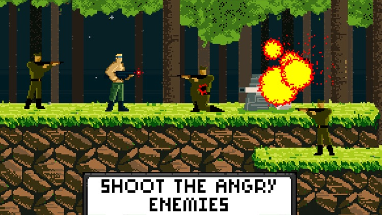 Brave Rambo Attack Free - Fighting the Evil Enemy in Dark Forest
