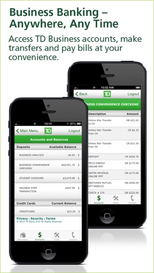 Td bank businessdirect on the app store iphone screenshots colourmoves Images