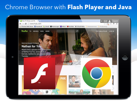 VirtualBrowser for Chrome + Flash Browser, Java Player and Extensions - iPad Edition screenshot one