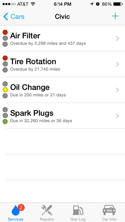 Car Minder Plus - Car Maintenance and Gas Log (MPG)