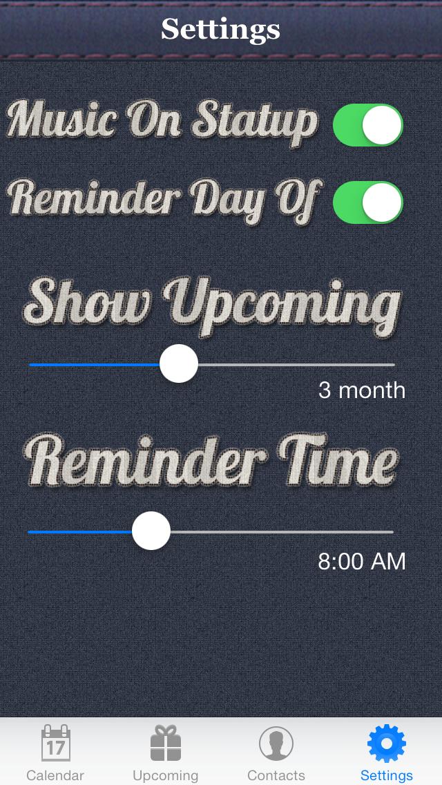 Birthday Reminder & Calendar+ screenshot four