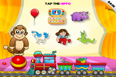 Abby - Toys Train - Learn Toys - Interactive Games for Children (Baby, Toddler, Preschool) HD Free screenshot 1