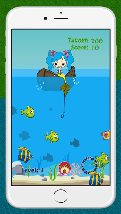 Mermaid Fishing Ocean Games For Kids Fun and Free Screenshot on iOS