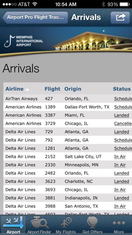 Memphis Airport + Flight Tracker screenshot-3