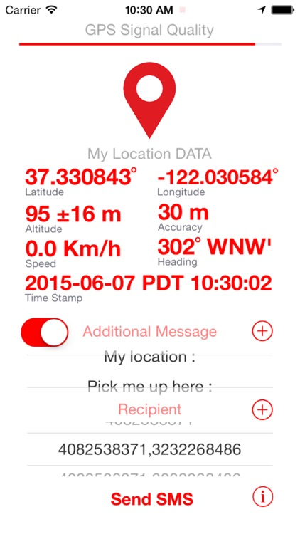 SMS My Location  ( Send your GPS location data through TEXT Message ) screenshot-1