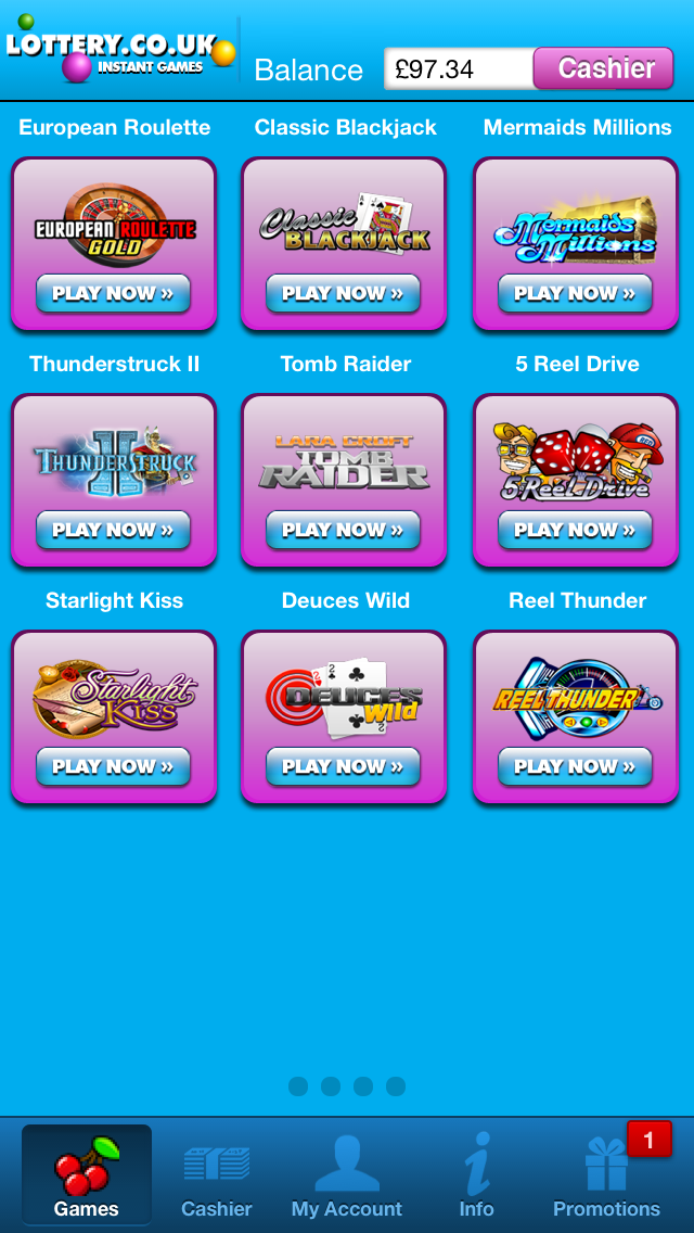 Lottery.co.uk Casino screenshot two