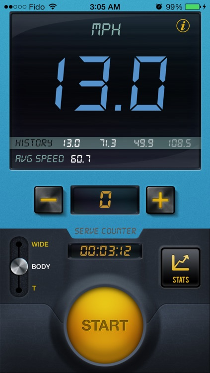 Tennis Serve Speed Radar Gun By CS SPORTS screenshot-3