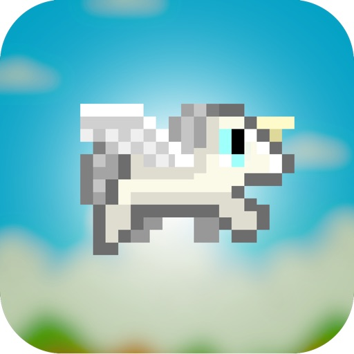 Adventure of Flappy Unicorn Bird Flyer - Free 8-Bit Pixel Game