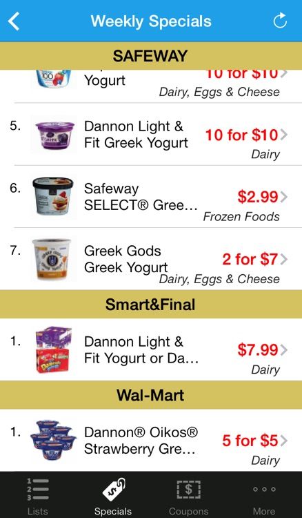 Grocery Pal (In-store weekly savings, sales, coupons & shopping list)