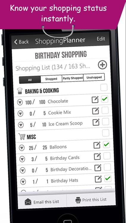Shopping Planner - Grocery List Items Organizer screenshot-3