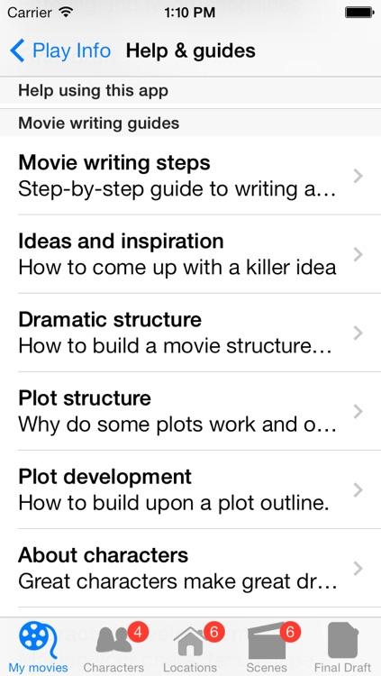 Movie Writing screenshot-3