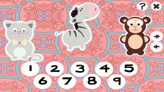 123計數嬰兒及兒童遊戲是免費的:有趣的玩與學數學的應用軟件!我的寶寶第一個號碼 - S&小動物屏幕截圖2