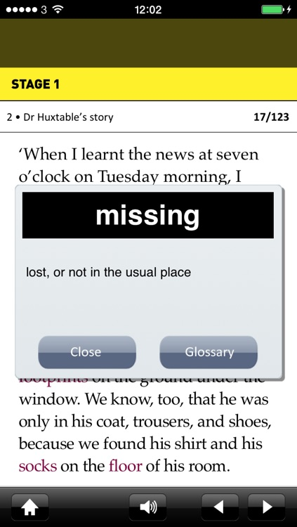 Sherlock Holmes and the Duke's Son: Stage 1 Reader (for iPhone)