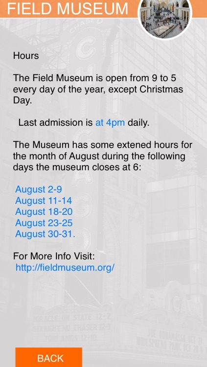 Chicago Museums screenshot-2