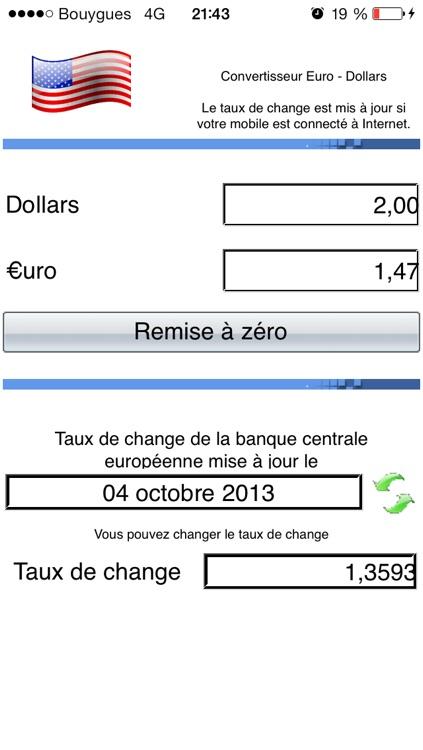 Convert Euros - Dollars