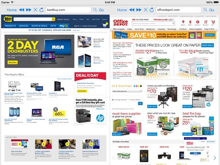Split Screen Browser