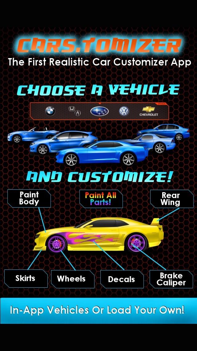 Cars.tomizer - Customize Your Ride! screenshot one