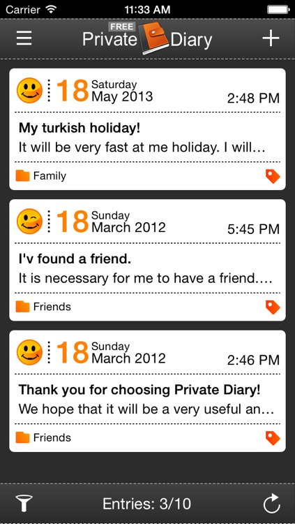 Private Diary Free