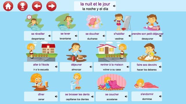 Aprender franc s escuchar hablar y jugar libre en app for Las comidas en frances