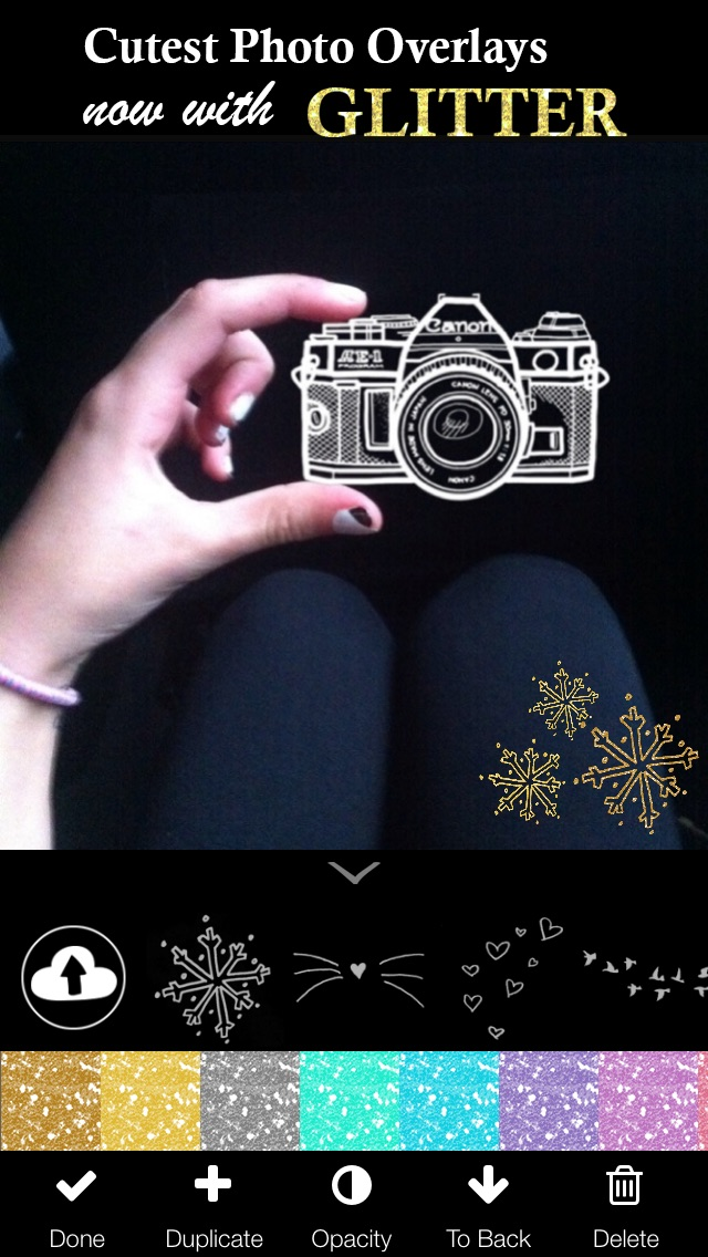 Doodles (Photo Editor for Beautiful DIY Overlay Crop Collage Effect on Instagram) Screenshot