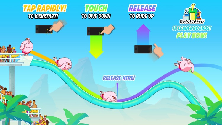 Waterslide Clyde and the Epic Glide: Waterpark Speed Racing screenshot-4