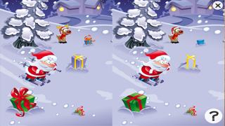 Screenshot of Gioco per i bambini in età 2-5 sul Natale: puzzles e giochi per la scuola materna, scuola materna o asilo nido con Babbo Natale, renne Rudolph, doni, e un sacco di neve. Gratis, nuova, apprendimento, divertimento!!2