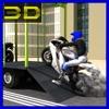 3Dオートバイシミュレータ貨物輸送トラックの運転手