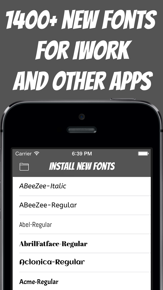 Install New Fonts