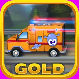 Little Ambulance in Action Gold: 3D Fun Exciting Driving for Kids with Cute Emergency Car