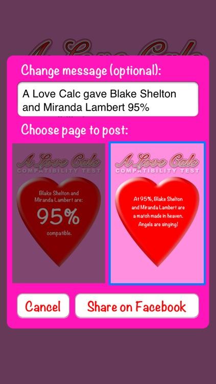 A Love Calc: Compatibility Test Calculator screenshot-3