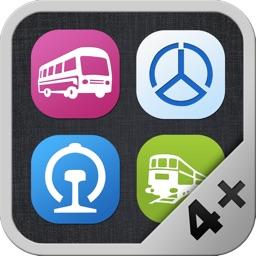 全国列车公交地铁长途汽车查询(4合1)