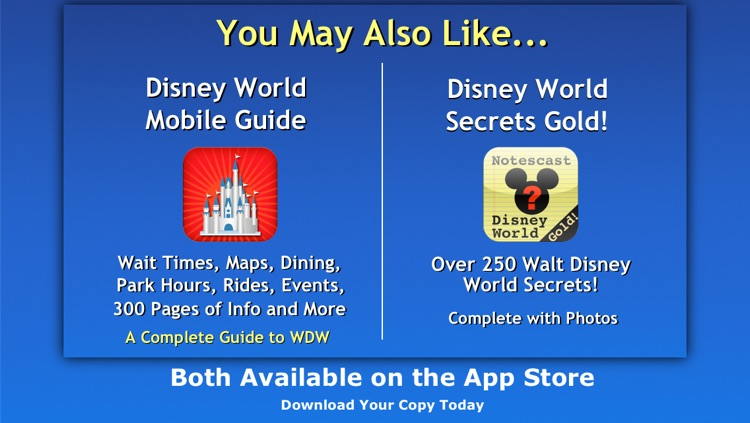 """Walt Disney World Guide"" Notescast screenshot-4"