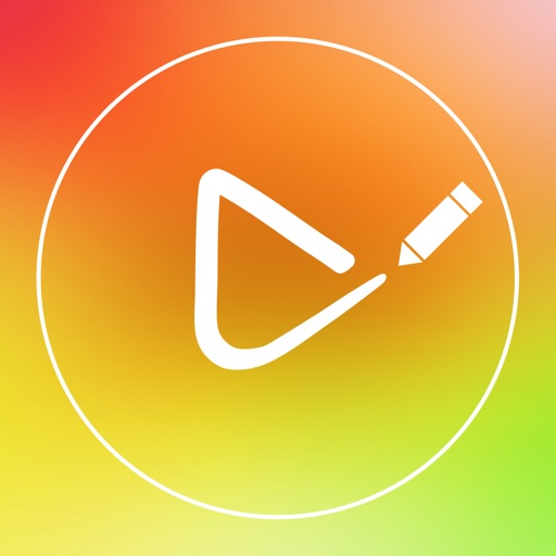 Draw on Video Square FREE - Paint and Drawing Funny Doodles Captions Colors Handwriting and Shapes on Videos for Instagram