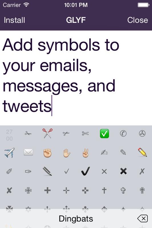 Glyf: Unicode keyboard - Online Game Hack and Cheat | Gehack com