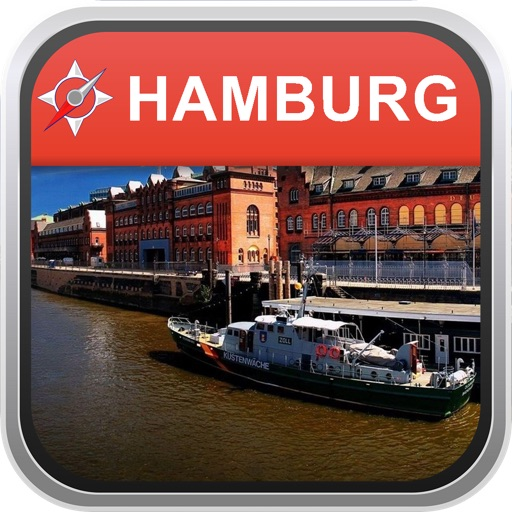 fline Map Hamburg Germany City Navigator Maps by City