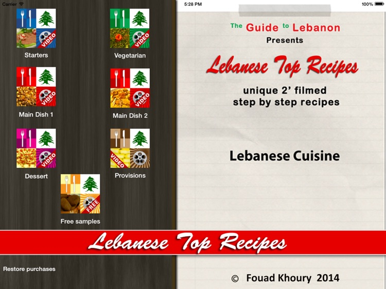 "Lebanese Top Recipes ""for iPad"""
