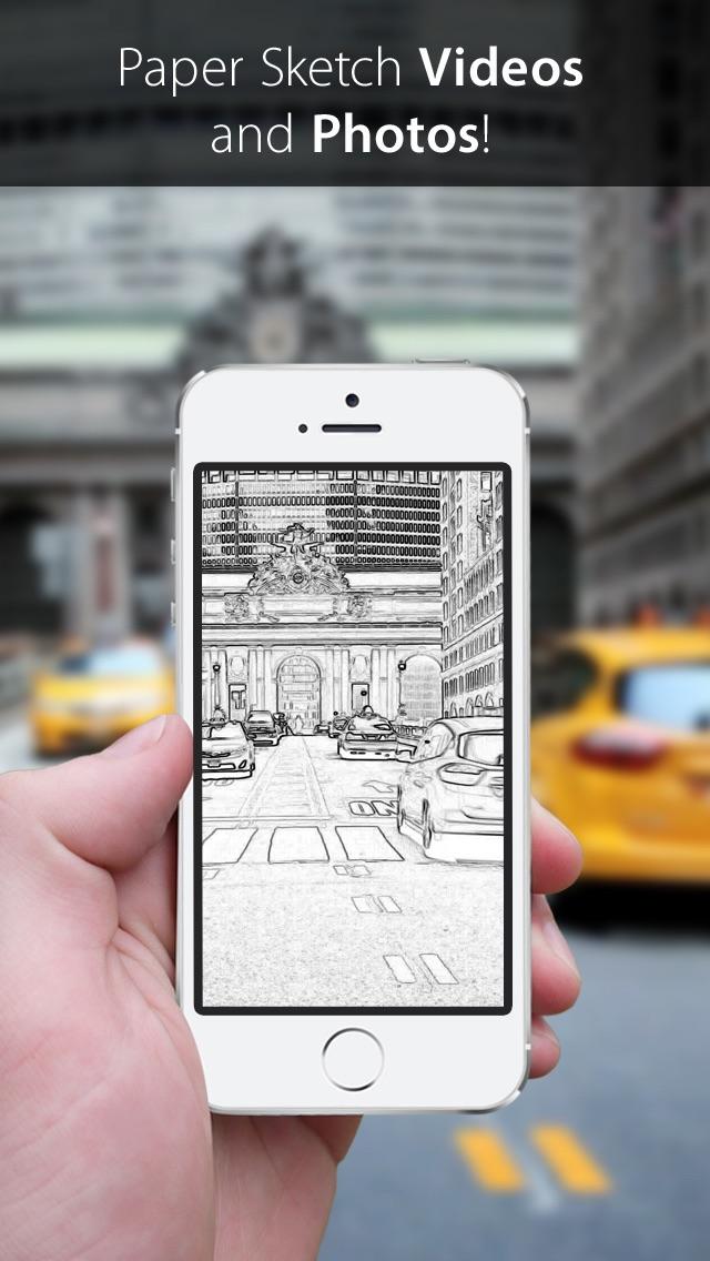 Screenshot for Video Sketch - Cartoon & Paper Camera in Lebanon App Store