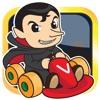 Vampire Racing Go Cart - Count Dracula vs Werewolf street fights