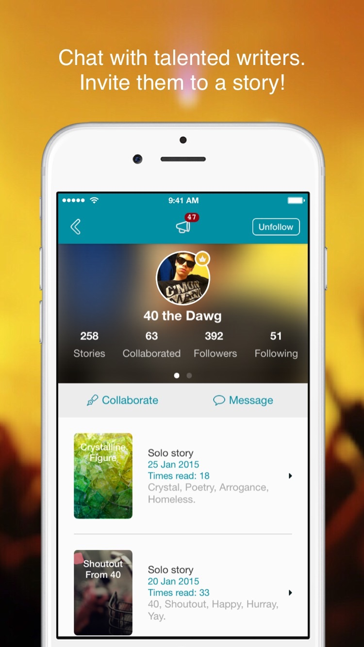 Inkvite - Chat Fiction Screenshot