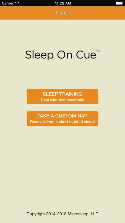 Sleep On Cue™
