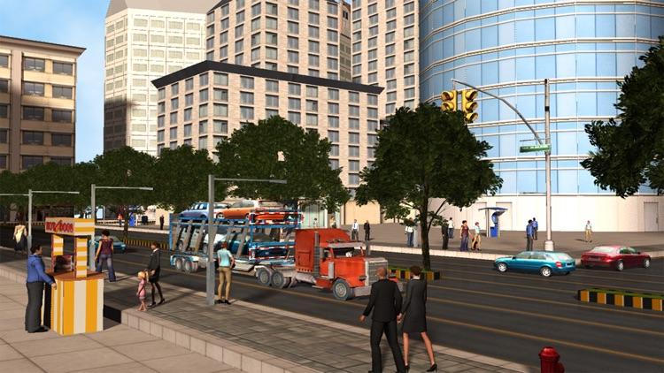 City Car Transport - Cargo Trailer Truck screenshot-4