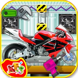 Sports Bike Factory – Build motorcycle in this mechanic garage game for kids