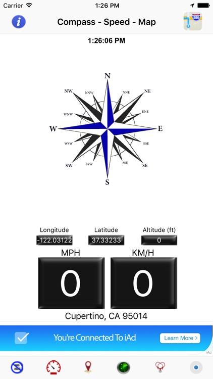 Compass Speedometer Maps