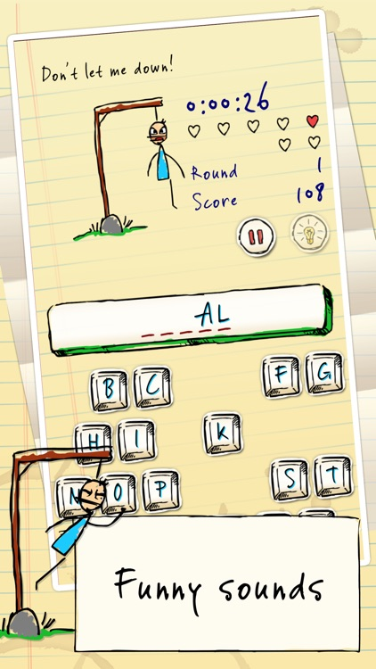 Hangman Hero FREE screenshot-1