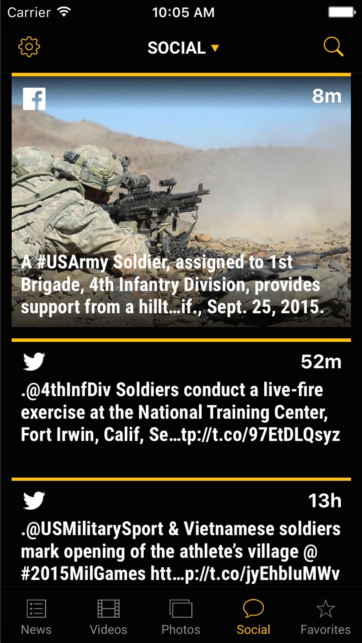 US Army News & Information Screenshot