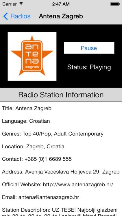 Croatia Radio Live Player (Hrvatska / hrvatski) screenshot-3