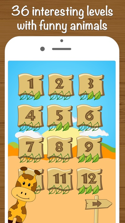 Safari Math Free - Addition and Subtraction game for kids screenshot-2